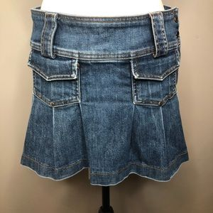 Juicy Couture Pleated Jean Skirt Size Medium